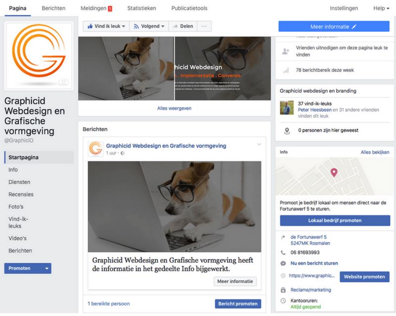 Facebook bedrijfspagina 1